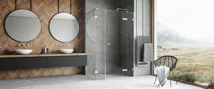 Przestronna łazienka z kabiną Eventa marki New Trendy
