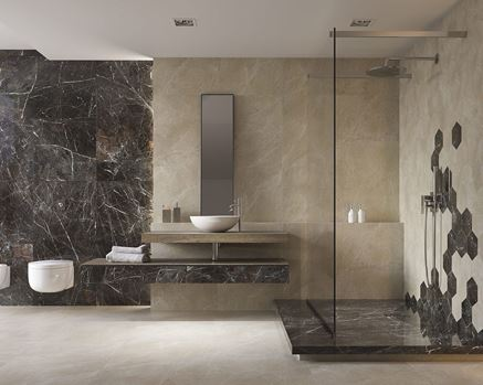 Marmur w łazience - Paradyż Tosi