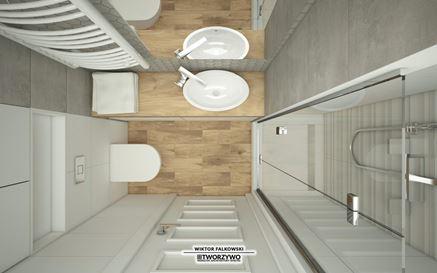 Mała łazienka w bloku - układ funkcjonalny
