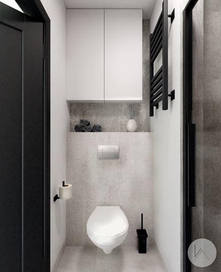 Zabudowa stelaża WC w małej łazience