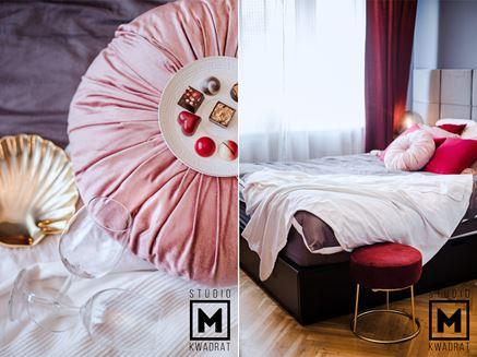 Romantyczna, kobieca sypialnia - detale