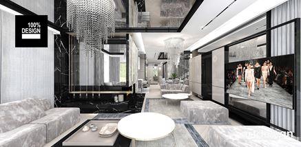 Salon z welurowymi kanapami