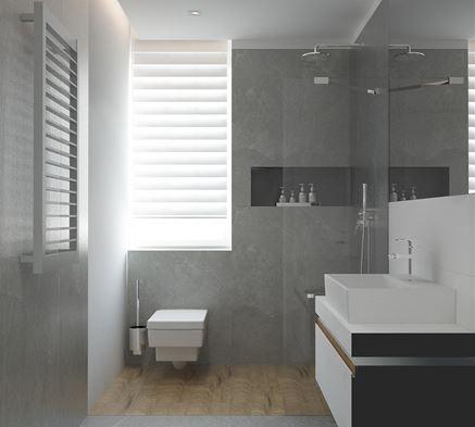 Toaleta z oknem w łazience