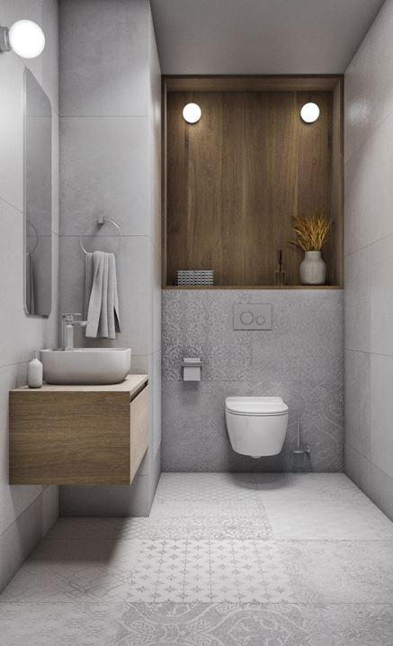 Szara toaleta z dekorami Azario Honshu