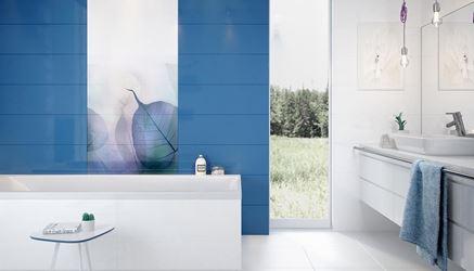 Biało-niebieska łazienka Opoczno Vivid Colours
