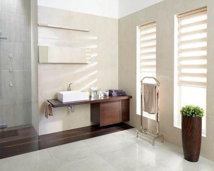 Aranżacja jasnej łazienki Paradyż Rino