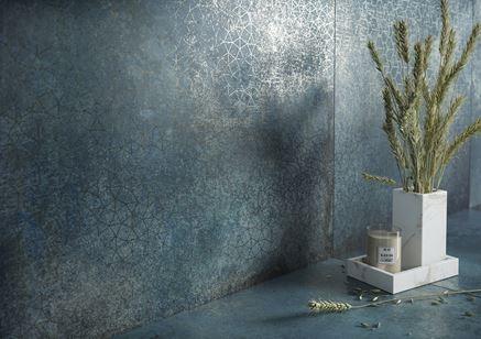 Detal niebieskiej płytki z kolekcji Cersanit Crazy Mint