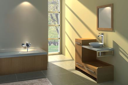 Minimalistyczna łazienka Omnires Murray