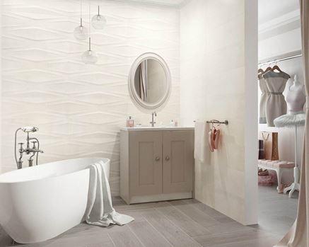 Romantyczna łazienka z elementami retro