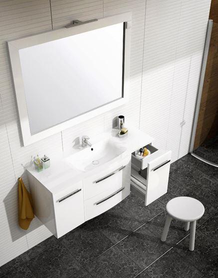 Białe meble do łazienki - Oristo Wave