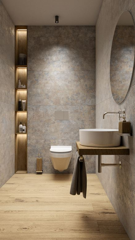 Jasna toaleta z płytami Persian Tale