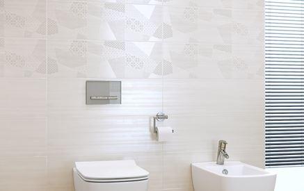 Płytka dekoracyjna w strefie toaletowej