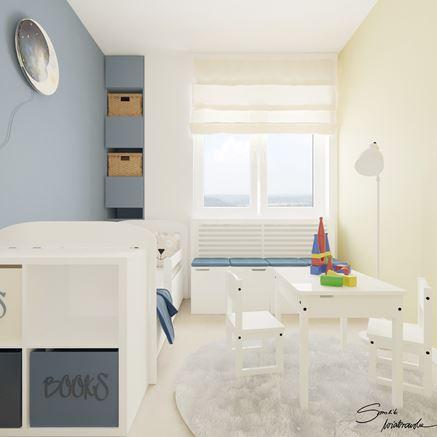 Miejsce do zabawy w pokoju dziecięcym