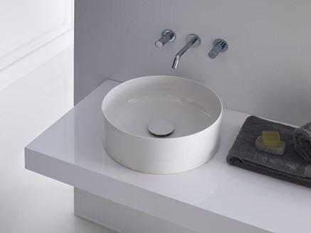 Okrągła umywalka stawiana na blat Laufen seria Living