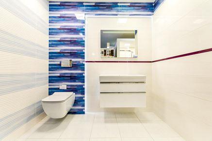 Łazienka z niebieskim akcentem - Opoczno Artistico