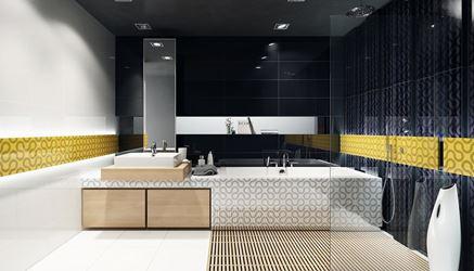 Nowoczesna łazienka wykończona dekorami