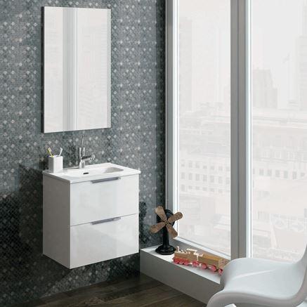 Biała szafka umywalkowa Street Plus Elita w aranżacji