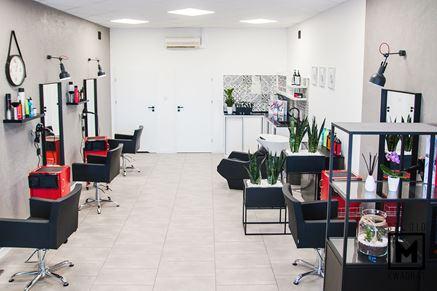 Salon fryzjerski w nowoczesnym stylu industrialnym