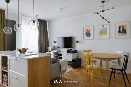 Przytulne i praktyczne wnętrze warszawskiego apartamentu
