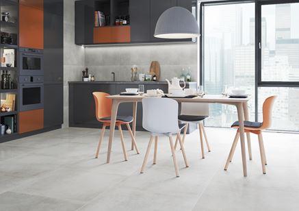 Beton i kolor w kuchni