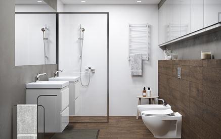 Nowoczesna łazienka z białą ceramiką