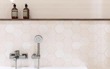 Płytka patchwork z heksagonalnym wzorem Cersanit Tulisa