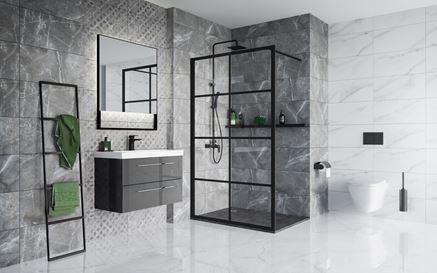 Nowoczesna łazienka w szarym kamieniu Vijo Nakros