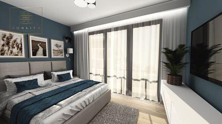 Sypialnia w luksusowym granacie