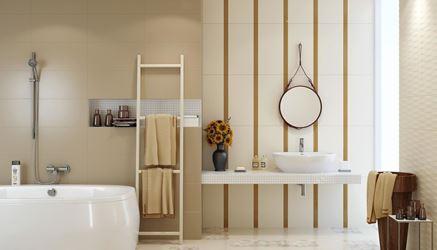 Stonowane beże w łazience Opoczno Basic Palette