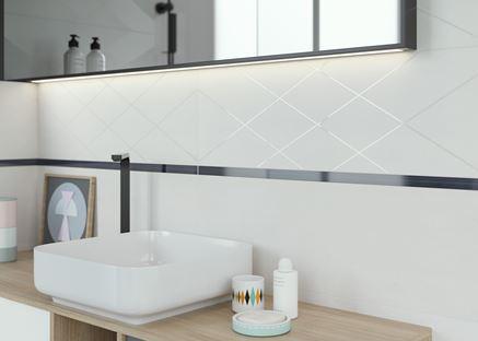 Paradyż Wonder dekor - powiększ optycznie łazienkę