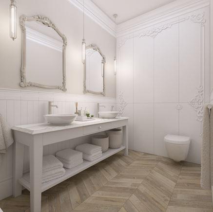 Łazienka dla dwojga - łazienka w bieli
