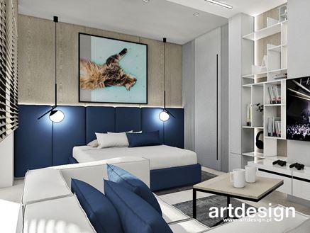 Granatowy pokój dla nastolatka