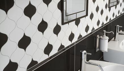 Detal czarno-białej mozaiki