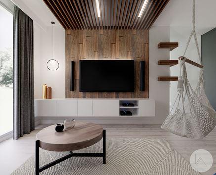 Pomysł na drewnianą ścianę RTV