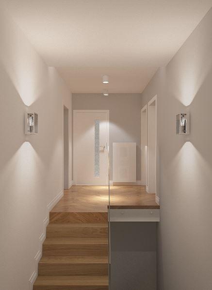 Drewniane schody z oszkleniem