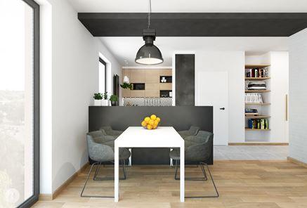 Stół w skandynawskim salonie
