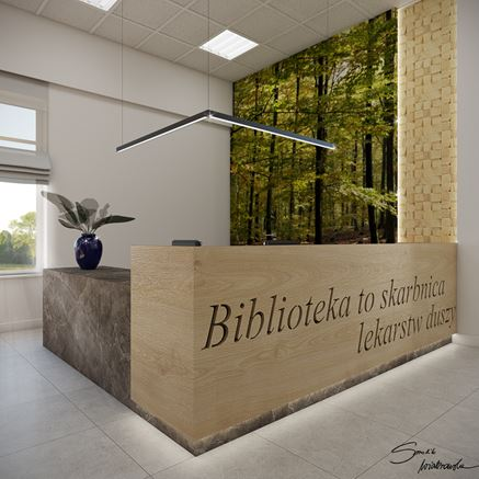 Biblioteka w Zarszynie - projekt wnętrza
