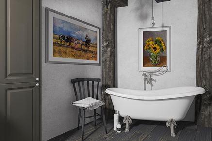 Strefa kąpielowa w rustykalnej łazience - Paradyż Herrera
