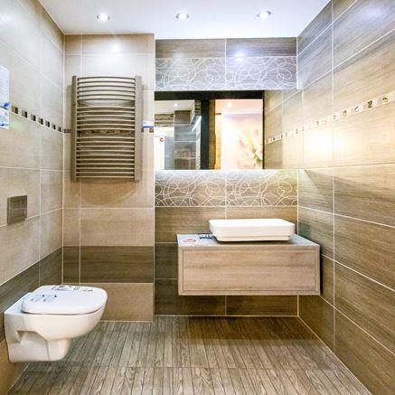 Brązowe płytki łazienkowe - Tubądzin Biloba