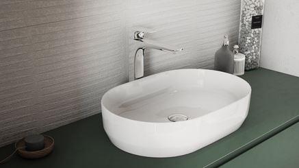Strefa umywalkowa z płytką Vijo Kerston