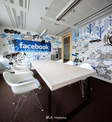 Sala konferencyna biura Facebook