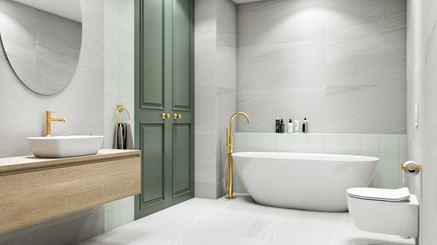 Łazienka glamour w jasnej kolorystyce