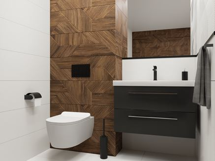 Płytka strukturalna w nowoczesnej łazience
