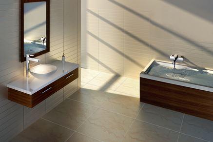 Aranżacja jasnej łazienkii z linią baterii Omnires Columbia