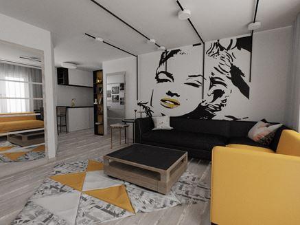 Salon z obrazem Marilyn Monroe