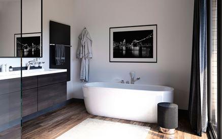 Aranżacja nowoczesnej łazienki z wanną wolnostojącą