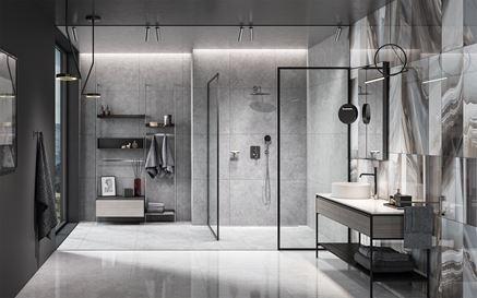 Chrom i metal w nowoczesnej łazience
