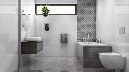 Nowoczesna łazienka w szarościach i bieli