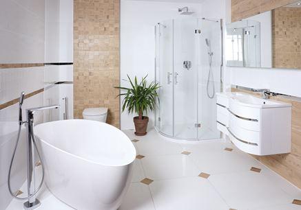 Aranżacja łazienki z armaturą Omnires Hudson