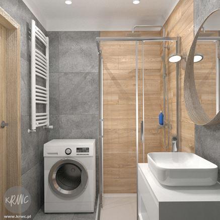 Łazienka drewnopodona - projekt łazienki